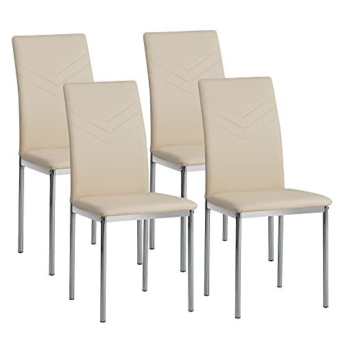 Albatros Esszimmerstühle Verona, 4er Set, beige
