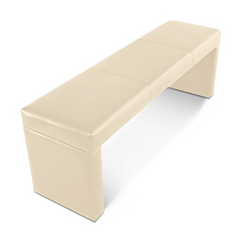 SAM® Esszimmer Sitzbank Emilia in Creme, Bank in 200 cm Breite, SAMOLUX®-Bezug für angenehmen Sitzkomfort, frei im Raum aufstellbare Essbank ohne Rückenlehne