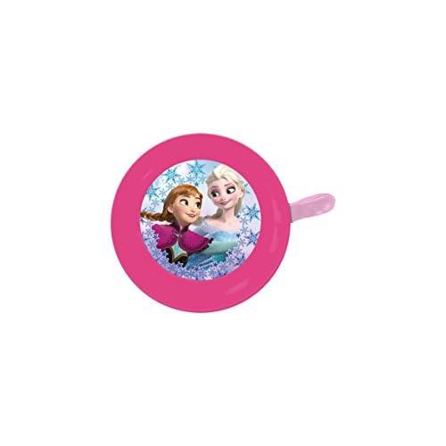 Disney 35661 - Campanello Bicicletta  Frozen Principessa Anna ed Elsa, Rosa