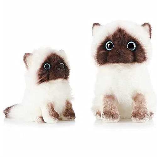 Muñeca de trapo, Pequeño lindo como un verdadero gato peluche juguetes ragdoll muñeca rellena realista juguete animal for niños decoración for niños regalo de bebé ( Color : 2 in 1 , Height : 25 cm )