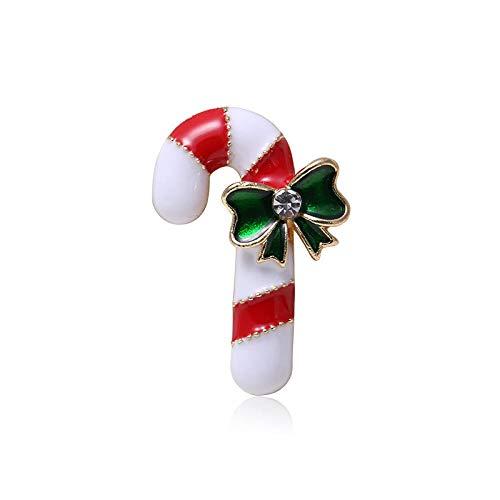Zxx17 Brosche Hochzeit Brautstrauß Brosche Pins Zubehör Formal Dress Strass,Weihnachten Krücke Brosche, europäische und amerikanische Legierung Diamant Hand Tropf Brosche