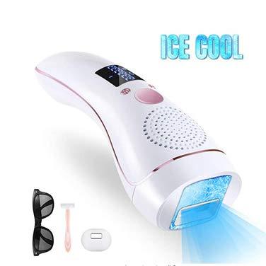 ZHHB Dispositivo De Depilación Láser IPL, Máquina De Depilación Ice Cool para Mujeres Y Hombres, 999,900 Flashes Sistema De Depilación Casero Sin Dolor Permanente para Axilas Bikini Line Body Hair