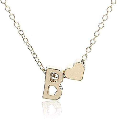 Yiffshunl Collar Collar Inicial Personalidad Letra Nombre Collar Colgante Joyas de Oro Regalo Collar Regalo
