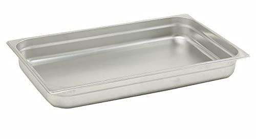 Pentole Agnelli Bassine Gastronorm 1/1, Acier Inoxydable 53x32.5x6.5 cm