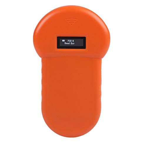 FOLOSAFENAR LCD ISO ID Chip RFID Lector de Perros Escáner de Mascotas Lector de identificación electrónico de 134.2Khz, para manejo de Animales Cargado por USB