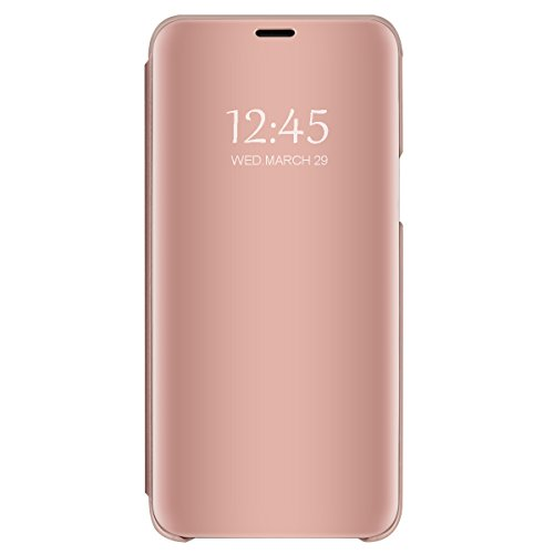 Pacyer kompatibel mit Galaxy S8 / S8 Plus/Note 8 Hülle, Business Serie Hart Hülle Spiegelnd Cover Kratzfeste Hard Prämie PC Bumper Anti-Scratch Handyhülle Schutzhülle (Rosa, S8)