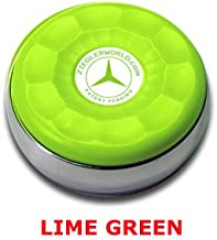 ZieglerWorld Table Large Shuffleboard Puck Weights - 4 Pucks - Lime Green Colors + Booklet