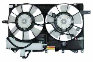 TYC 621190 Toyota Prius Replacement Radiator/Condenser Cooling Fan Assembl