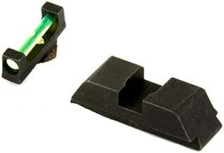 AmeriGlo Sight, fits Glk 17,19,22,23,24,26,27,33,34,35,37,38,39, Green Fiber Front Black Rear