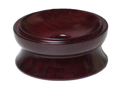 京仏壇はやし 仏具 りん台 紫檀製 3.5寸