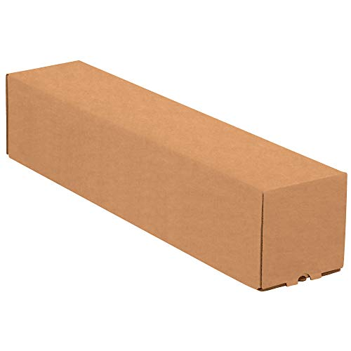 """Top Pack Supply Square Mailing Tubes, 5"""" x 5"""" x 30"""", Kraft (Pack of 25)"""