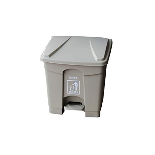 AOYANQI-Cubos de basura Bote de basura tipo pedal, Bote de basura multifuncional comercial de alta capacidad for exteriores con tapa Caja de recolección de residuos multifunción Bajo techo, en exterio