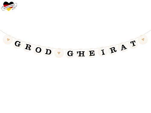 renna deluxe GROD GHEIRAT Girlande für die Hochzeit Hochzeitsgirlande für Hochzeit-Shooting Dekoration Hochzeitsdeko Geschenketisch | Handmade in Deutschland