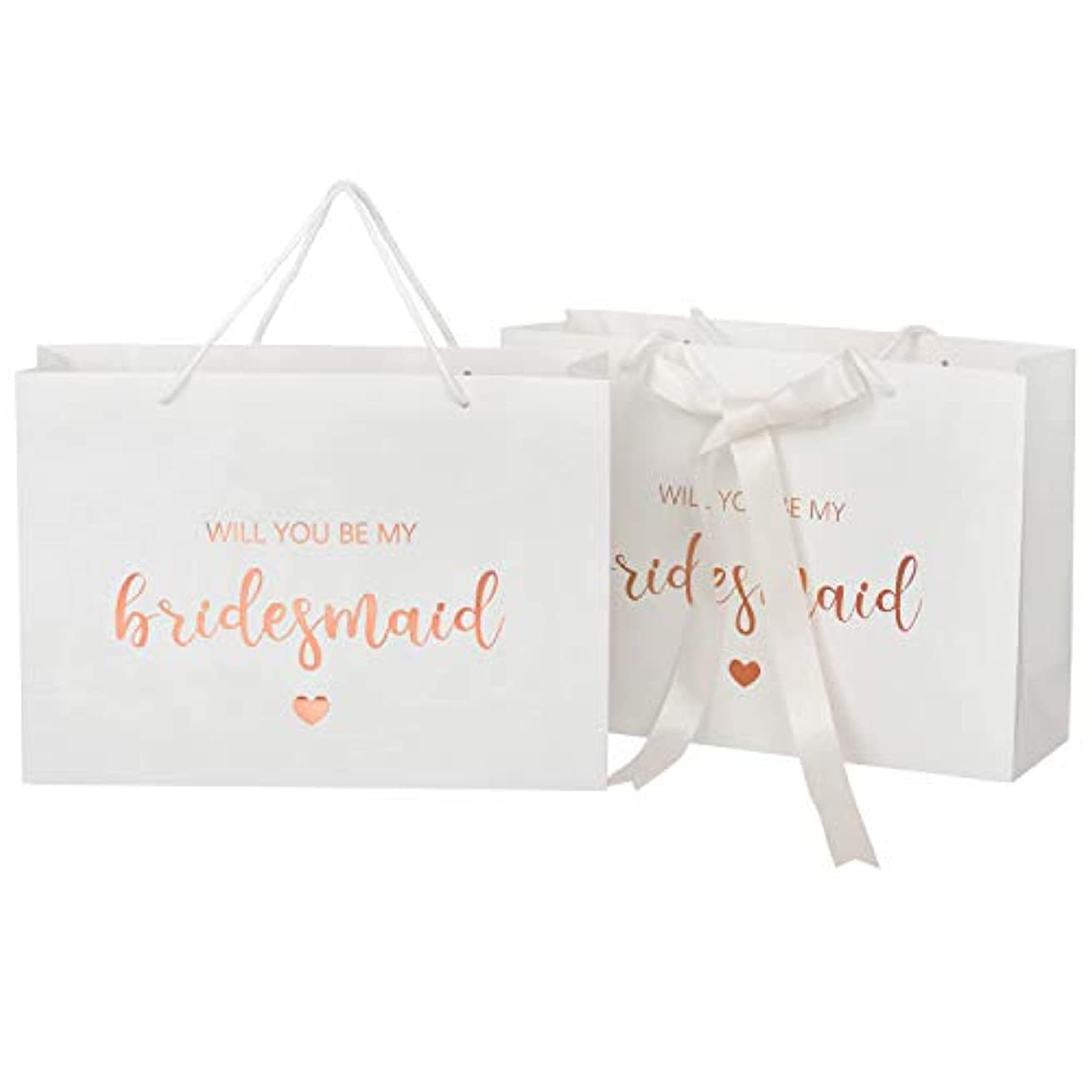 Crisky Will You Be My Bridesmaid Gift Bags, Bridesmaid Proposal Bags Bridesmaid Gift Rose Gold, 6 Pack