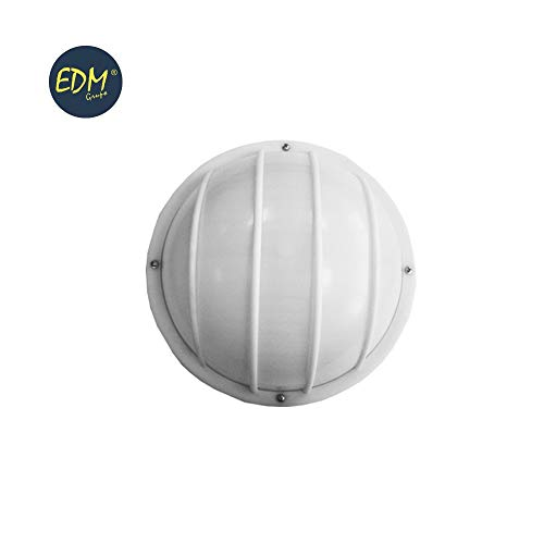 Applique en aluminium IP54 rond blanc E27 100 W mod. VINYOLS