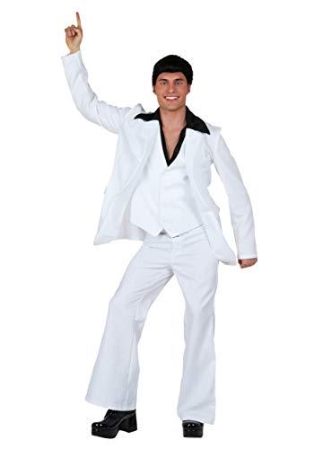 Adult Deluxe Saturday Night Fever Fancy Dress Costume Medium