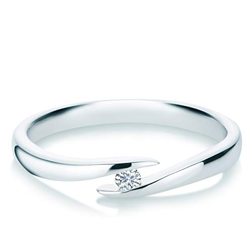 Tresor 1934 Damen-Ring Diamant 0,05 Weißgold Spannring Twistring Verlobungsring