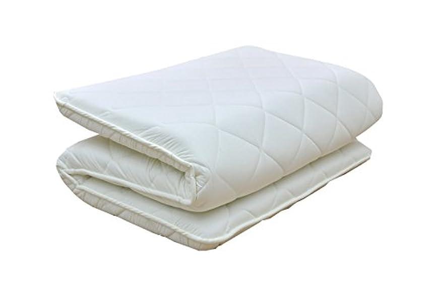 池口頭証言する日本製 四層 ボリューム 敷布団 アクフィット中綿使用 無地 セミダブルサイズ 防ダニ 抗菌 防臭