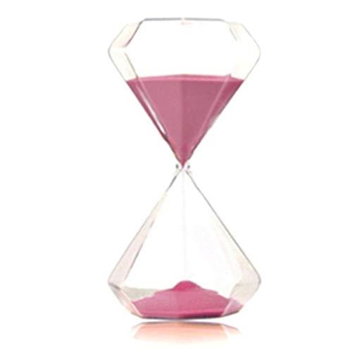 JINSUO NWXZU Sanduhr, Diamant Multicolor Timer, Eieruhr Dekoration, Valentinstag Kreative Dekorationen, Wohnaccessoires schönes Geschenk (Color : Pink)