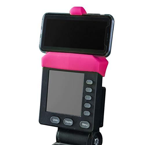 Rosa Handyhalterung für PM5 Monitore von Rudergerät, SkiErg und BikeErg - Silikon Fitness Produkte