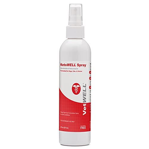 KetoWELL Chlorhexidine & Ketoconazole Medicated Spray for Dogs & Cats...