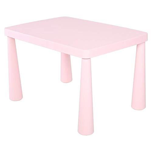 Duanyangshangmaoyouxingongsi Tamaño: Ordinario, plástico Dual Engrosamiento de la Mesa Rectangular Escritorio de Escritorio Pintura Pintura Juguetes para niños Mesa de Kindergarten (Color : Pink)