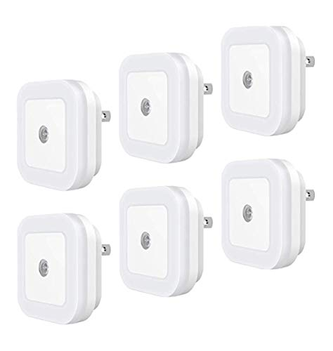 Plug-in LED Night Light with Smart Dusk to Dawn Sensor (Pack of...