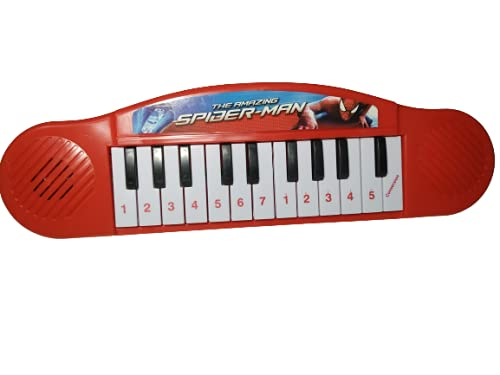 Spiderman Musical Keyboard Piano Toy for Kids | Spider Man Piano Toy for Kids (Battery Operated) (Red)