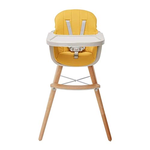 Fantastic Prices! High Chair Convertible, Multi-Functional Dining Chair with Adjustable Legs and Tra...
