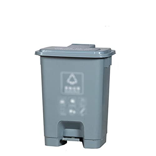 LSNLNN Contenedores de Residuos, Cesta de Residuos de Plástico 20L, Pedal de Cocina para el Hogar Pedal de Basura de Alta Capacidad Papelera de Reciclaje de Calle de Múltiples Colores,B,20L