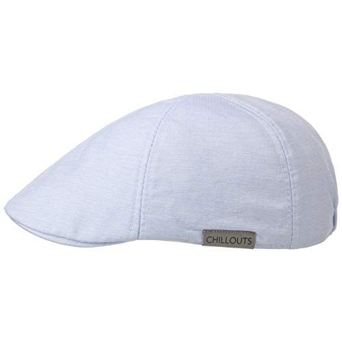 CHILLOUTS Oakville Cotton Flatcap Schirmmütze Schiebermütze Baumwollcap Sommercap (L/XL (58-60 cm) - hellblau)
