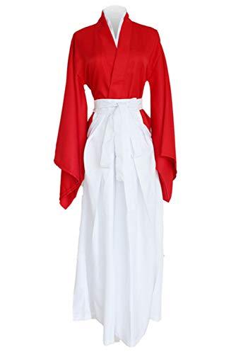 Bilicos Kenshin Himura Red Kendo Kimono Traje de Cosplay Disfraz Hombres Caballeros XL