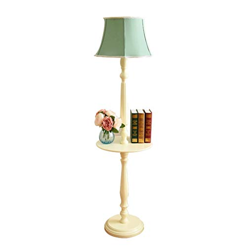 Jixi vloerlamp vloerlicht massief houten vloerlamp tray opslag tafel Europees American modern minimalistisch retro vloerlamp staande lampen