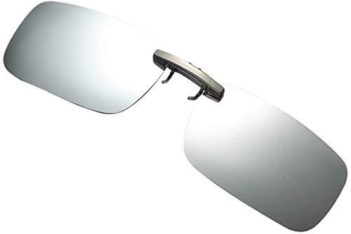 Fuibo Clearance zonnebril for mannen vrouwen Afneembare Van Vision Optics Night Training metalen clip Polarize On Zonnebrillen (zilver (30% korting 4 of meer)