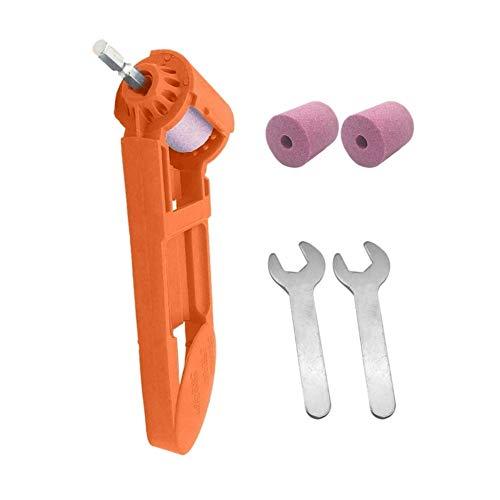 Zimaes Diversidad Sacapuntas perforar 2-12.5mm portátil Taladro Herramienta eléctrica de la Rueda de corindón Pulido Molino Amoladora Muela Sacapuntas Sharpe completar (Color : Orange)