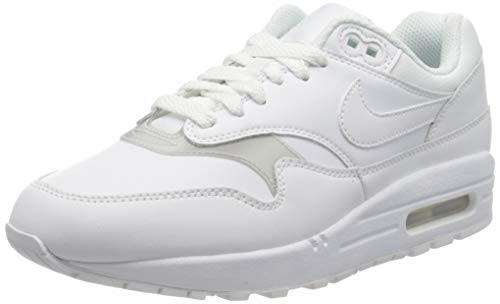 Nike Wmns Air MAX 1, Zapatillas de Running para Mujer, Blanco (White/White/White 119), 42 1/2 EU