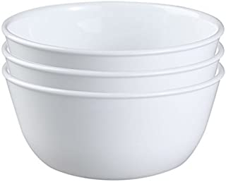 Corelle Coordinates Corelle Livingware Super Soup/Cereal Bowl, 28 oz, Winter Frost White, Set of 3