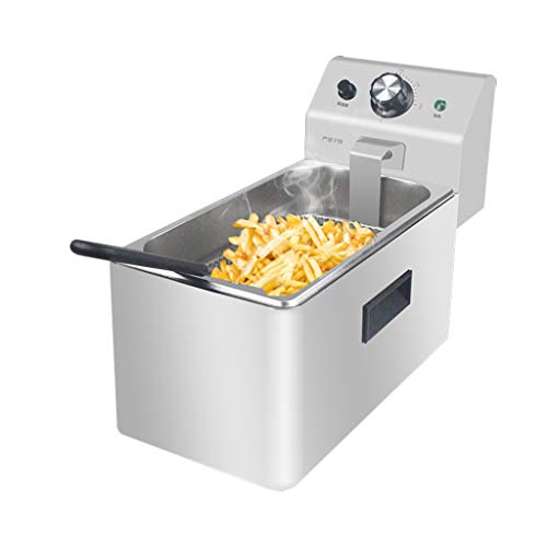 1.5L/2.5L Stainless Steel Deep Fat Fryer Home Commercial Kitchen Frying Electric Chip Fryer