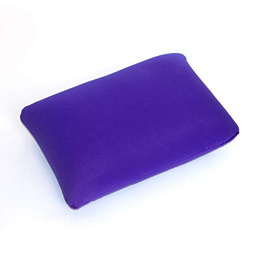 Cushie Pillows 13.5 inches x 10 inches Microbead Squishy/Flexible/Comfortable Rectangle Pillow - Purple