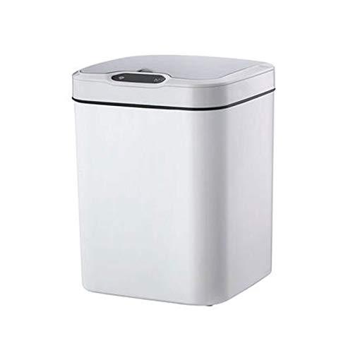 Cubo de Basura Plaza de basura inteligente de la bandeja Smart Play 15L con tapa de basura con tapa de tapa gratis Bandeja de basura automática para la oficina de cuarto de baño Papeleras