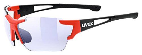 uvex Unisex– Erwachsene, sportstyle 803 race vm Sportbrille, black-red, one size
