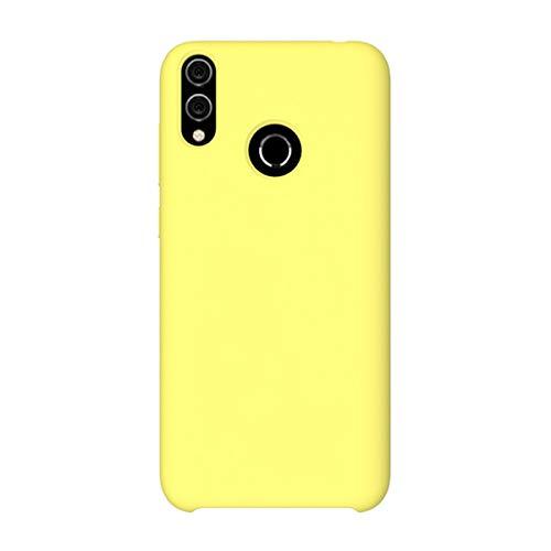 Riyeri Funda para Huawei Honor 8C/8X Ultra-Delgado Anti-Arañazos Funda Protectora Silicone Cover Funda Estuche Resistente para Huawei Honor 8C/8X (Amarillo, Honor 8X)