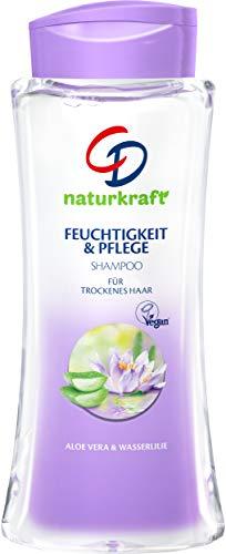 CD Naturkraft Shampoo 'Wasserlilie', 250 ml, 2in1 Feuchtigkeit & Pflege, Haarpflege für normales & trockenes Haar, Haarwaschmittel mit Aloe vera, vegan