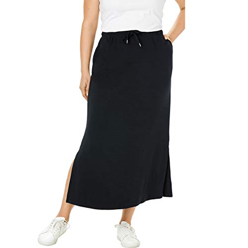 "PLUS SIZING: Size 22 / 24 will fit Plus sizes 22 to 24 Sits above the waist, 12"" side slits Regular: 36"" length Petite: 34"" length ABOUT THE BRAND: At Woman Within we're the experts in plus size comfort, and we've been doing this for over 100 years. ..."