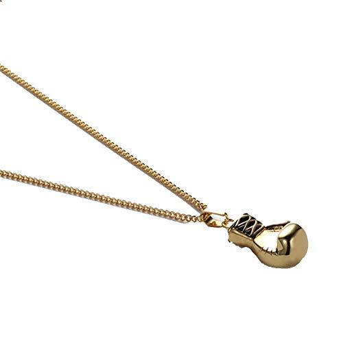 aimaoer Mode Retro Fitness Boxhandschuhe Halskette Männer Und Frauen Titan Stahl Paar Anhänger Mit Zubehör, Gold