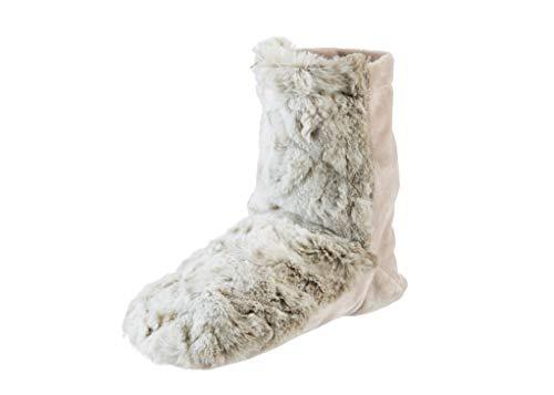 Sonoma Lavender - Lavender Spa Booties Arctic Circle Faux Fur