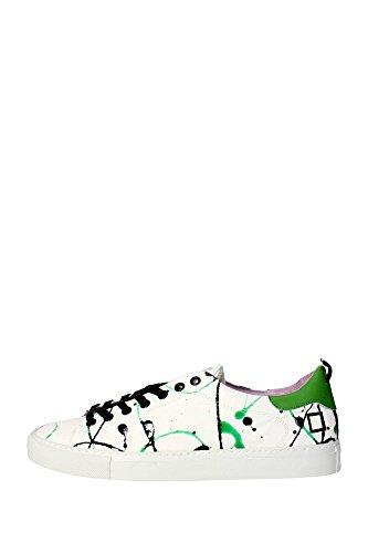D.A.T.E. E15a-ac-pk-gr - Zapatillas de Piel para Mujer Blanco Size: 37