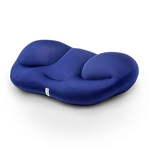 Pamura - Air Sleep - Kopfkissen - ergonomisches Kissen - 8 Millionen Airballs - gegen Nackenschmerzen - waschmaschinenfest - Abnehmbarer Bezug (blau)