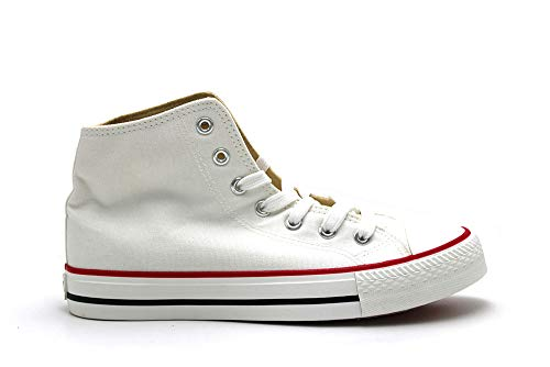 Mustang Chaussures de sport type bottine avec lacets Semelle en caoutchouc pour femme - Blanc - blanc, 40 EU EU
