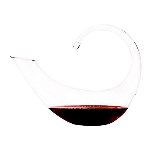 WANGIRL 1400 ml Decantador de Vino, Aire Acondicionado con Forma de C con Forma de CR de Cristal sin Plomo, diseño Exterior aerodinámico, Accesorios de Vino LOLDF1